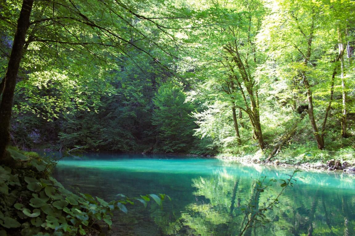 Kupa Rivier in Risnjak Nationaal Park