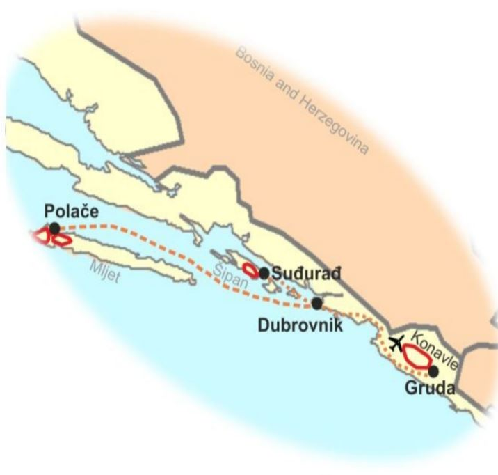 route hiking dubrovnik & islands