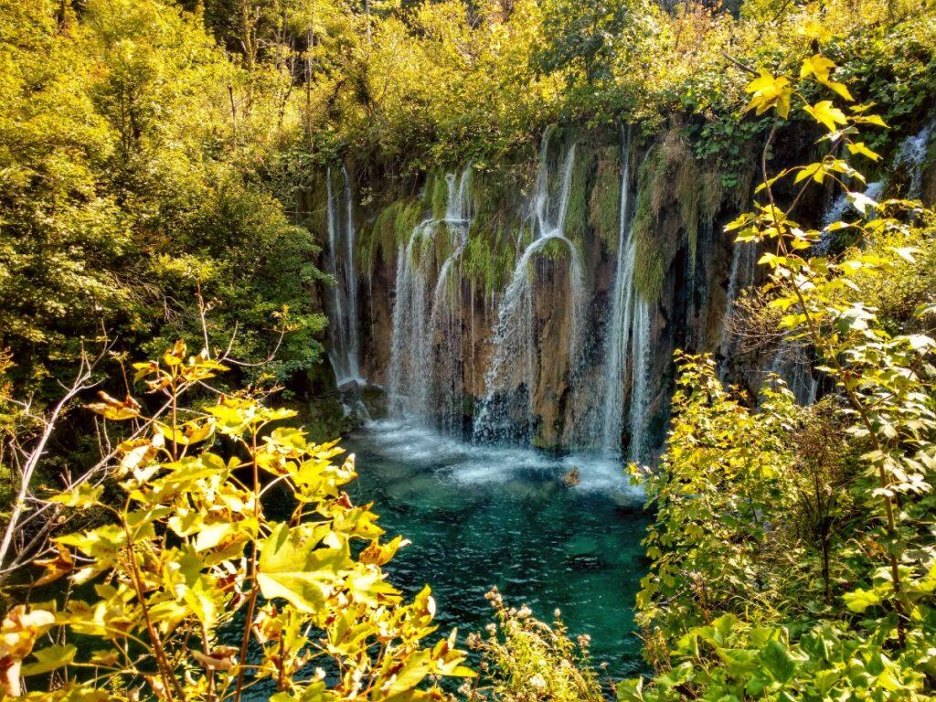 Plitvice watervallen in Lika, Kroatie