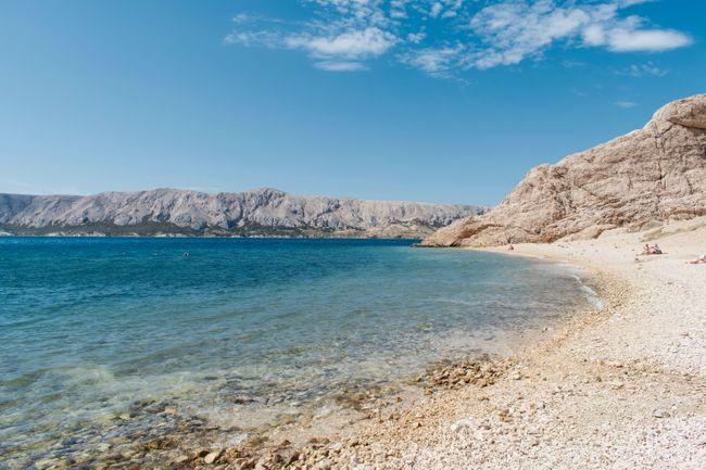 strand Kroatie Pag