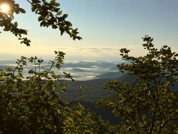 uizicht op Ogulin vallei Gorski Kotar Kroatie