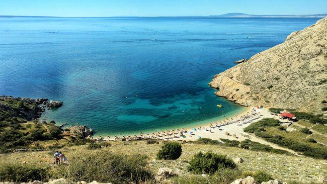 Krk Kroatie strand